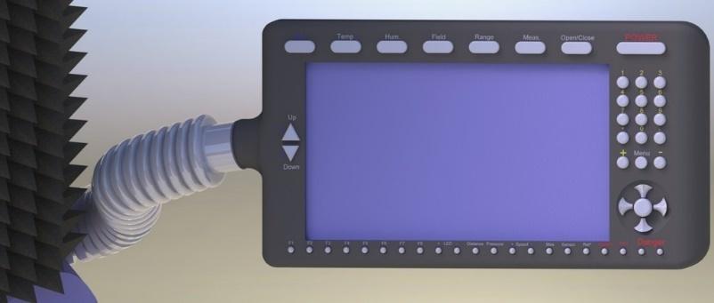 Климатическая экранированная ТЕМ-камера, вид сзади