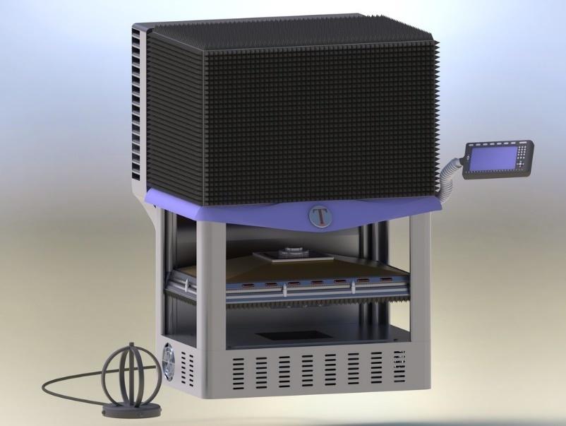 Дверь климатической экранированной ТЕМ-камеры с испытательным столом для испытания радиоэлектронных средств на ЭМС