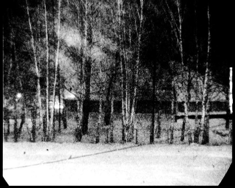 Исходное изображение (вечер, слабый снегопад с умеренным ветром, дующим слева)