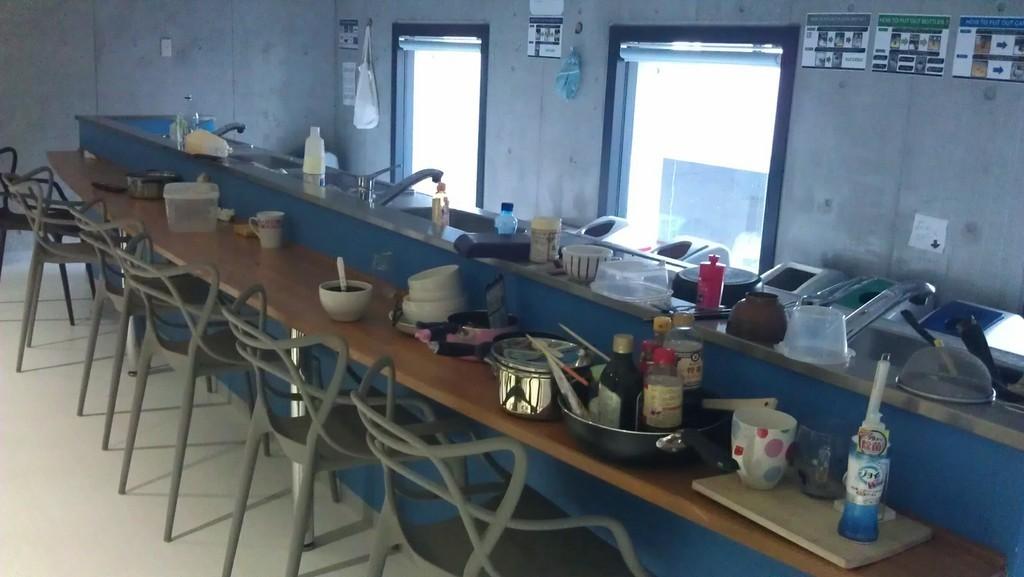 Кухня общежития для иностранных студентов в Университете Рицумейкан