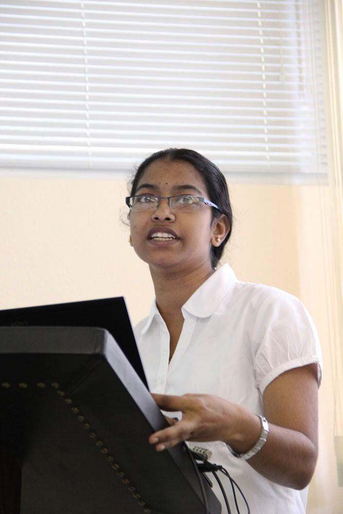 Защита практики студентки из SRM University (Индия)