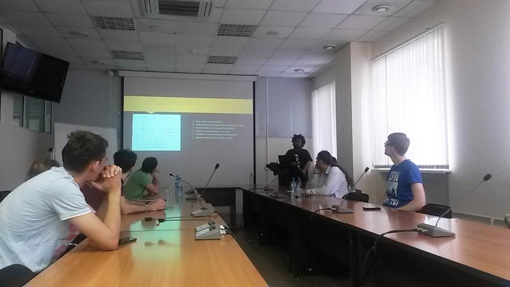 EPITECH students presented theresults oftheir internship atTUSUR University