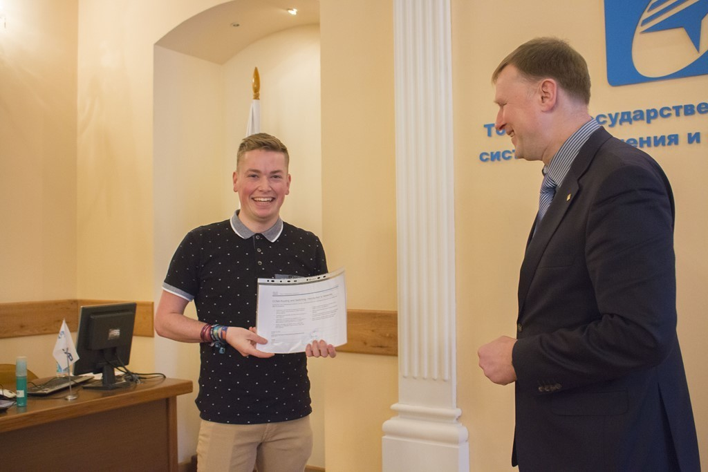 Master Students of the Home Automation program have been awarded with CCNA certificates