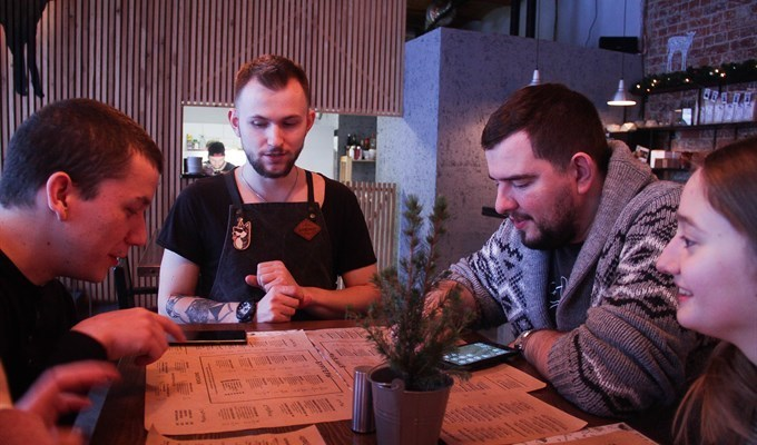 В томском кафе