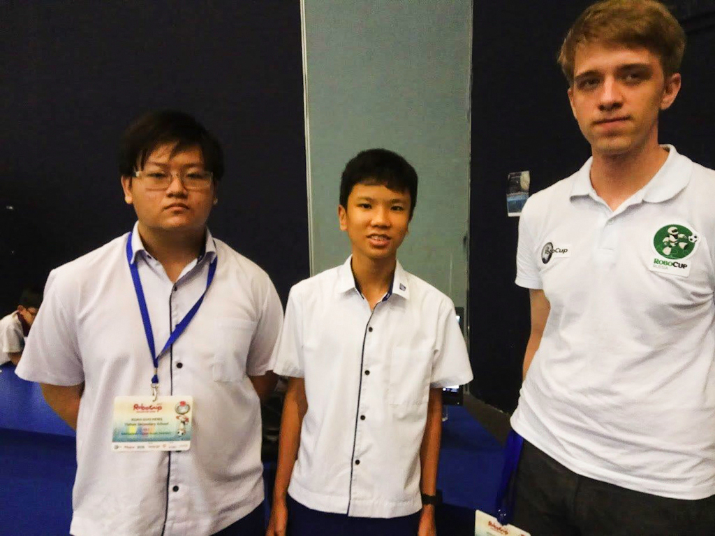 TUSUR student has participated in the RoboCup Singapore Open
