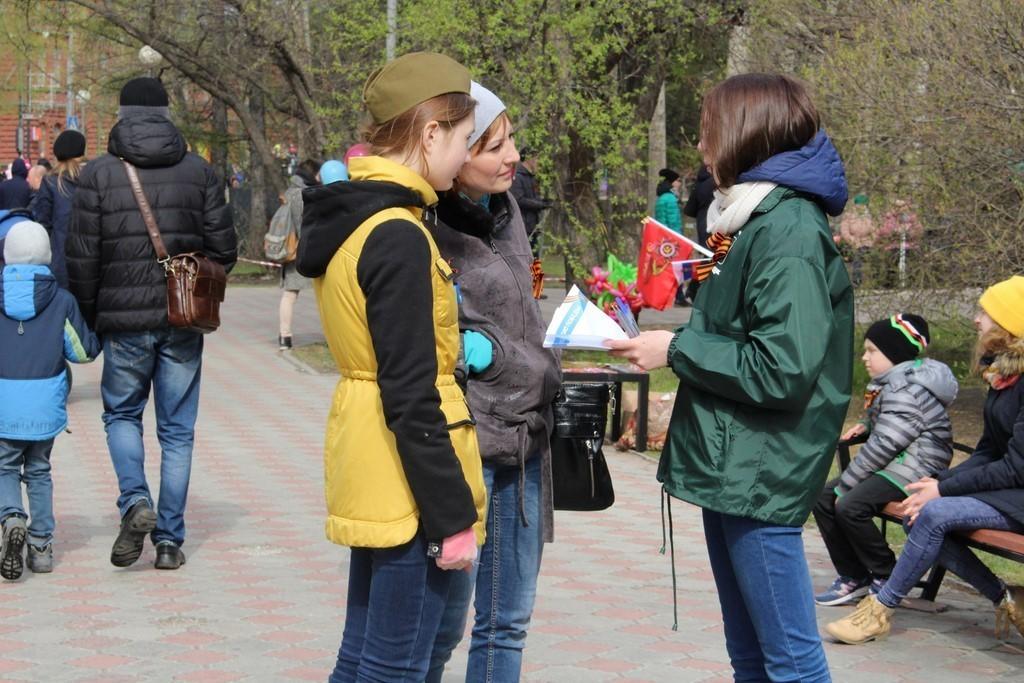 Волонтёры ТУСУРа провели патриотические акции вчесть ДняПобеды