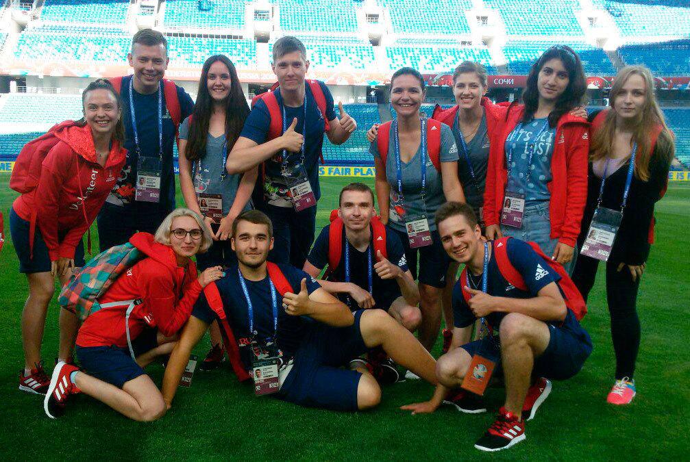 Волонтёр ТУСУРа участвует вКубке конфедераций FIFA – 2017