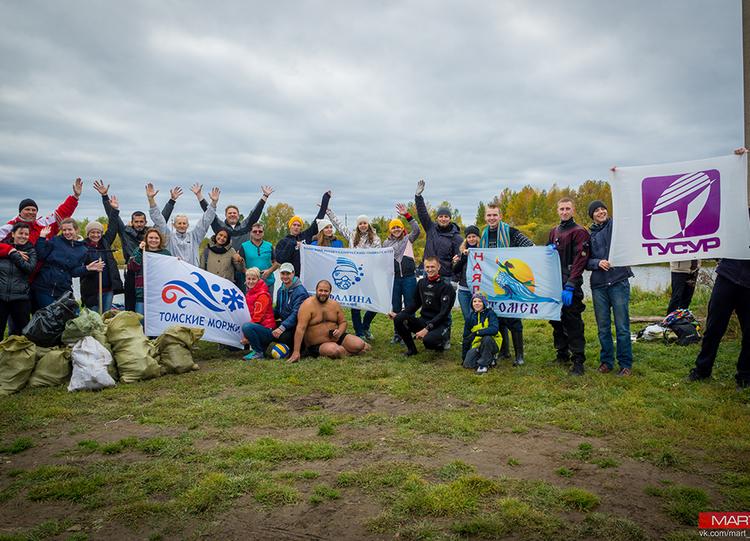 Очистка озера Боярское сучастием аквалангистов клуба «Наяда» ТУСУРа
