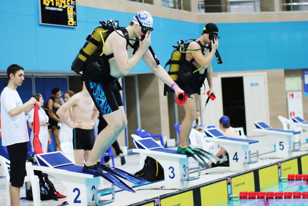 Спортсмены-подводники ТУСУРа участвуют вгородском чемпионате поплаванию